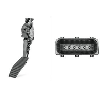 Senzor, poloha akceleracniho pedalu HELLA 6PV 009 765-741