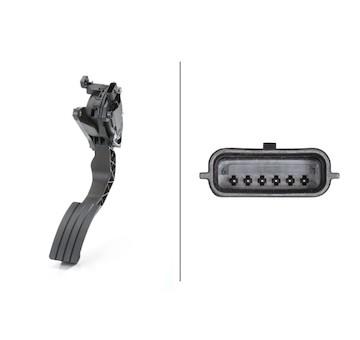 Senzor, poloha akceleracniho pedalu HELLA 6PV 009 978-721