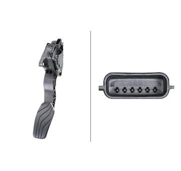 Senzor, poloha akceleracniho pedalu HELLA 6PV 009 978-791