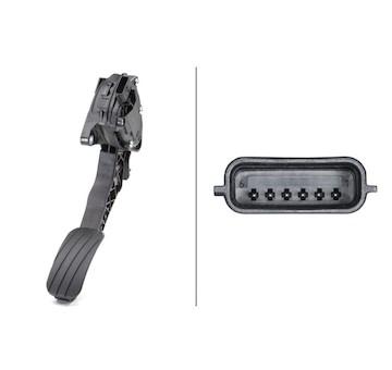 Senzor, poloha akceleracniho pedalu HELLA 6PV 009 978-781