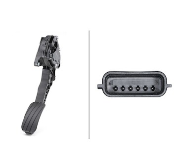 Senzor, poloha akceleracniho pedalu HELLA 6PV 009 978-751