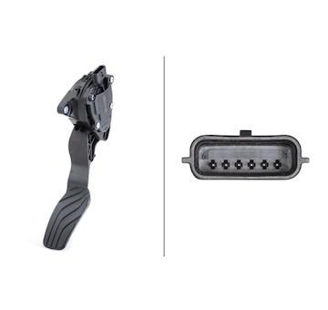 Senzor, poloha akceleracniho pedalu HELLA 6PV 009 978-801