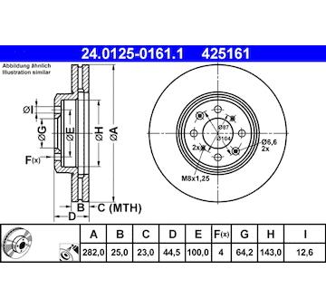 Brzdový kotouč ATE 24.0125-0161.1
