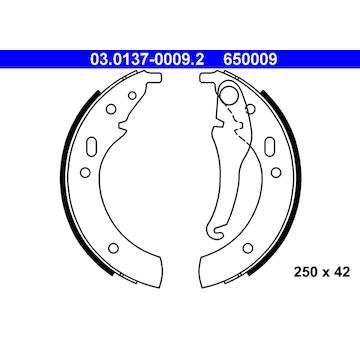 Sada brzdových čelistí ATE 03.0137-0009.2