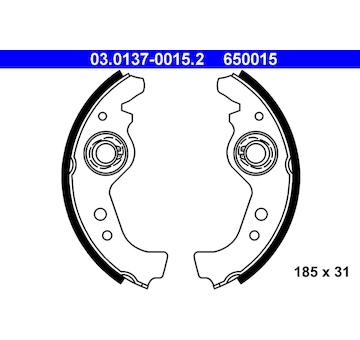 Sada brzdových čelistí ATE 03.0137-0015.2