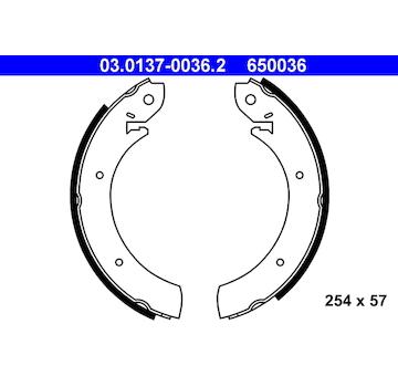 Sada brzdových čelistí ATE 03.0137-0036.2
