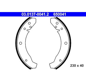 Sada brzdových čelistí ATE 03.0137-0041.2