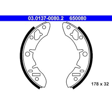 Sada brzdových čelistí ATE 03.0137-0080.2