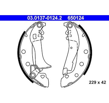 Sada brzdových čelistí ATE 03.0137-0124.2