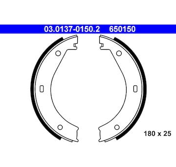 Sada brzdových čelistí, parkovací brzda ATE 03.0137-0150.2