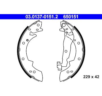Sada brzdových čelistí ATE 03.0137-0151.2