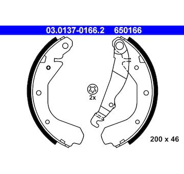 Sada brzdových čelistí ATE 03.0137-0166.2