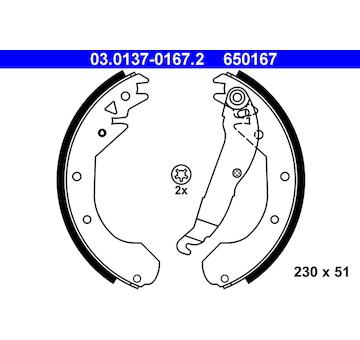 Sada brzdových čelistí ATE 03.0137-0167.2