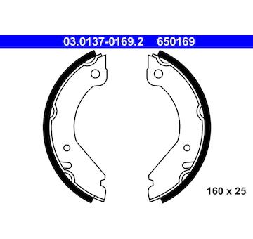 Sada brzdových čelistí, parkovací brzda ATE 03.0137-0169.2