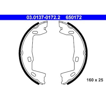 Sada brzdových čelistí, parkovací brzda ATE 03.0137-0172.2