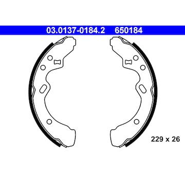 Sada brzdových čelistí ATE 03.0137-0184.2