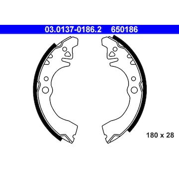 Sada brzdových čelistí ATE 03.0137-0186.2