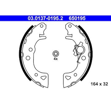 Sada brzdových čelistí ATE 03.0137-0195.2