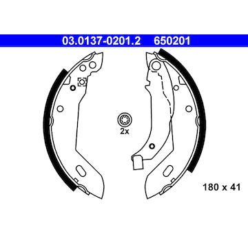 Sada brzdových čelistí ATE 03.0137-0201.2