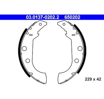 Sada brzdových čelistí ATE 03.0137-0202.2