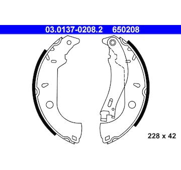 Sada brzdových čelistí ATE 03.0137-0208.2