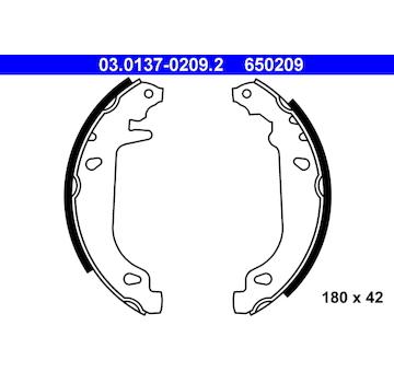 Sada brzdových čelistí ATE 03.0137-0209.2
