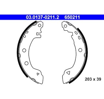 Sada brzdových čelistí ATE 03.0137-0211.2