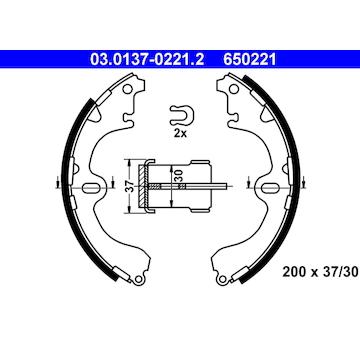 Sada brzdových čelistí ATE 03.0137-0221.2