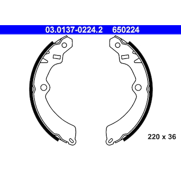Sada brzdových čelistí ATE 03.0137-0224.2