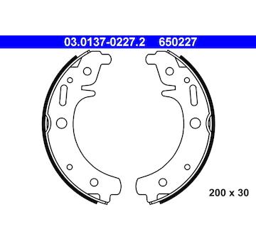 Sada brzdových čelistí ATE 03.0137-0227.2