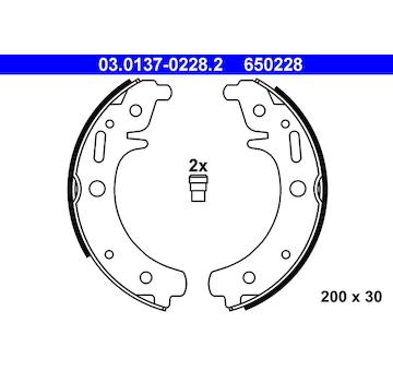 Sada brzdových čelistí ATE 03.0137-0228.2