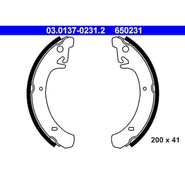 Sada brzdových čelistí ATE 03.0137-0231.2
