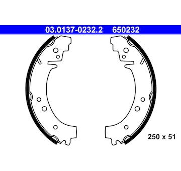 Sada brzdových čelistí ATE 03.0137-0232.2