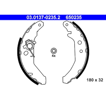 Sada brzdových čelistí ATE 03.0137-0235.2
