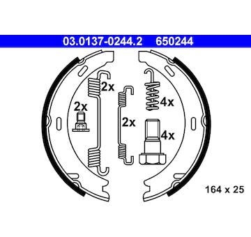 Sada brzdových čelistí, parkovací brzda ATE 03.0137-0244.2