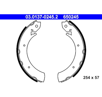 Sada brzdových čelistí ATE 03.0137-0245.2