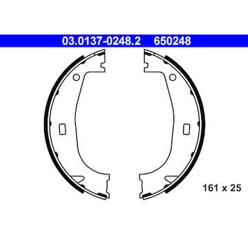 Sada brzdových čelistí, parkovací brzda ATE 03.0137-0248.2