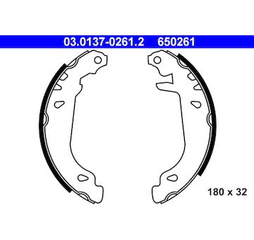 Sada brzdových čelistí ATE 03.0137-0261.2