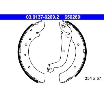 Sada brzdových čelistí ATE 03.0137-0269.2