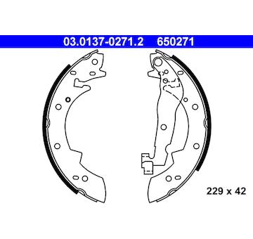 Sada brzdových čelistí ATE 03.0137-0271.2