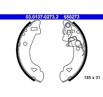 Sada brzdových čelistí ATE 03.0137-0273.2