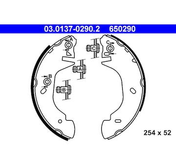 Sada brzdových čelistí ATE 03.0137-0290.2