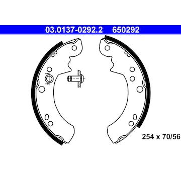 Sada brzdových čelistí ATE 03.0137-0292.2