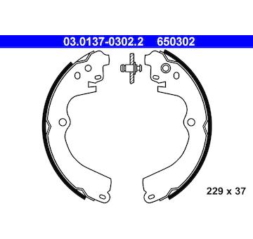 Sada brzdových čelistí ATE 03.0137-0302.2