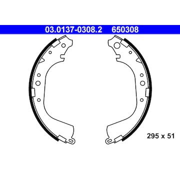 Sada brzdových čelistí ATE 03.0137-0308.2