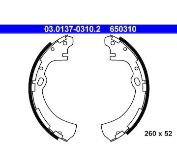 Sada brzdových čelistí ATE 03.0137-0310.2