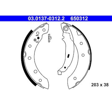 Sada brzdových čelistí ATE 03.0137-0312.2