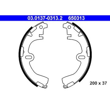 Sada brzdových čelistí ATE 03.0137-0313.2