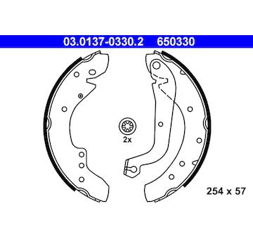 Sada brzdových čelistí ATE 03.0137-0330.2