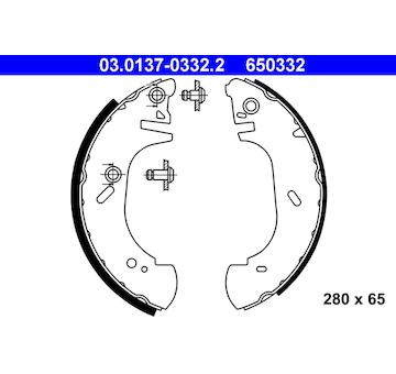 Sada brzdových čelistí ATE 03.0137-0332.2